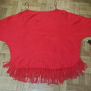 🤑🤑NWT TOP /  SWEATER WITH FRINGES DECOR SIZE XL